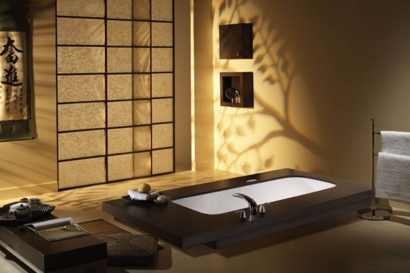 D coration salle de bain japonaise for Salle bain japonaise