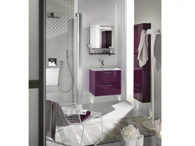 d coration salle de bain mauve. Black Bedroom Furniture Sets. Home Design Ideas