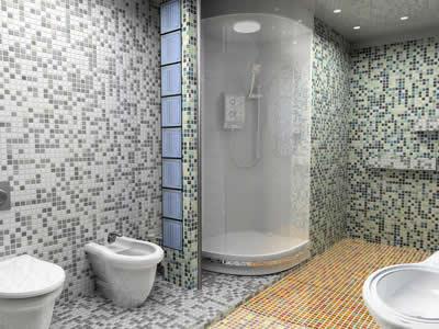 aménagement décoration salle de bain mosaique