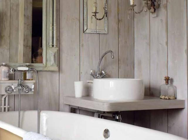 Photo décoration salle de bain retro