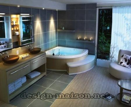 d coration salle de bain spa. Black Bedroom Furniture Sets. Home Design Ideas