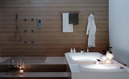 D coration salle de bain tendance for Tendance deco salle de bain
