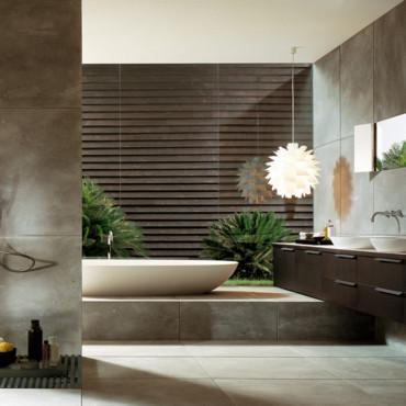 modèle décoration salle de bain tendance