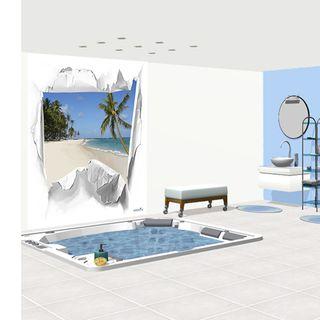 D coration salle de bain theme mer for Salle de bain jonc de mer