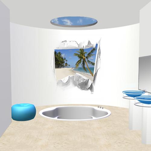 D coration salle de bain theme mer for Decor de salle de bain