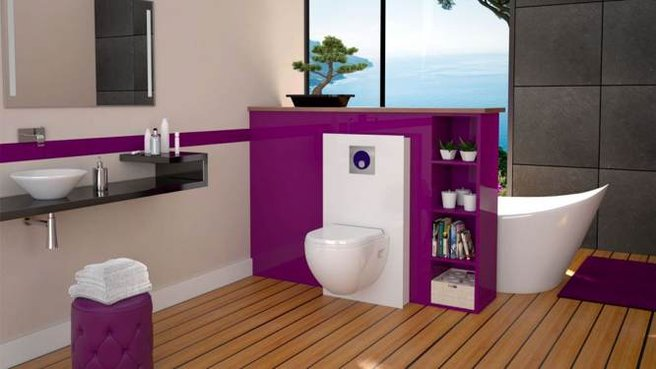 d coration salle de bain toilette. Black Bedroom Furniture Sets. Home Design Ideas