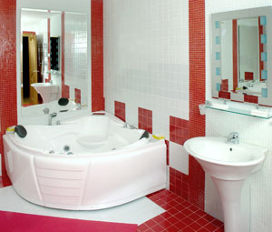 modèle décoration salle de bain toilette
