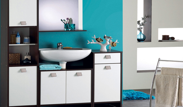 d coration salle de bain turquoise. Black Bedroom Furniture Sets. Home Design Ideas