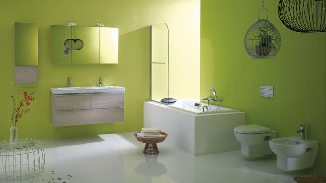 d coration salle de bain verte. Black Bedroom Furniture Sets. Home Design Ideas