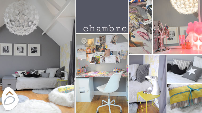Beautiful Deco Chambre Ado Fille Gris Et Rose Pictures ...