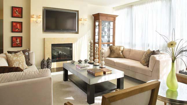 Grand Salon Avec Foyer : Décoration salon avec foyer