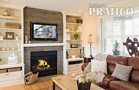 D coration salon avec foyer - Decoration foyer salon ...