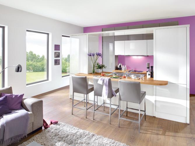 D coration salon cuisine ouverte for Belle cuisine ouverte