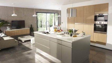 D coration salon cuisine ouverte for Exemples cuisines ouvertes