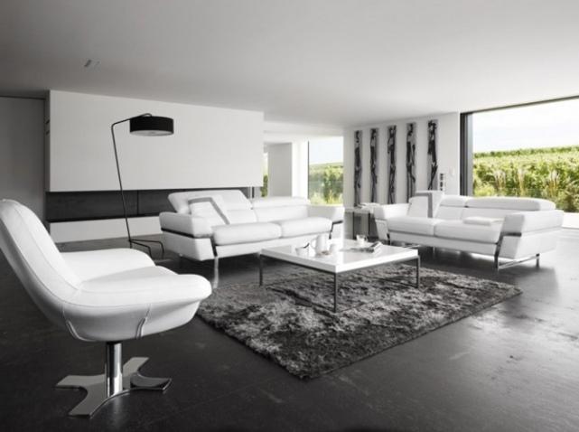 idée décoration salon design blanc - Photo Déco