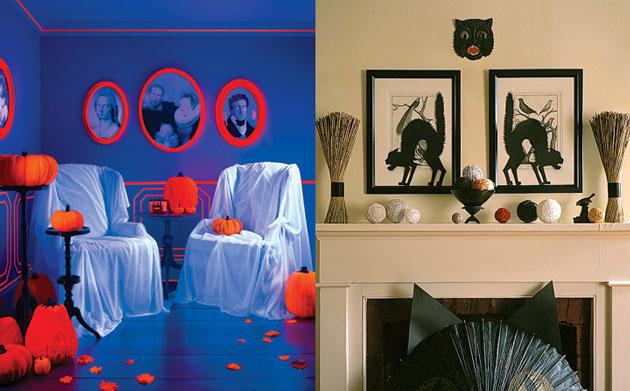 d coration salon halloween. Black Bedroom Furniture Sets. Home Design Ideas