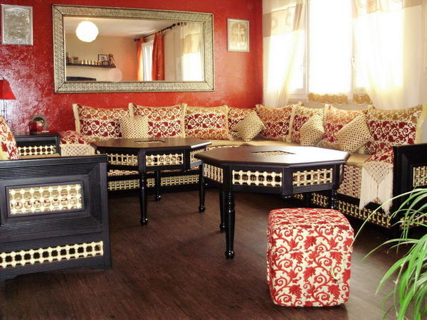 d coration salon marocain. Black Bedroom Furniture Sets. Home Design Ideas