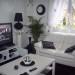 décoration salon noir gris blanc