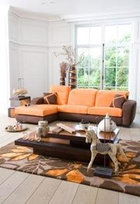 D coration salon orange chocolat - Deco salon chocolat ...
