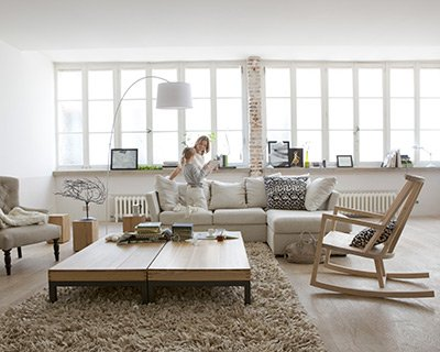 d coration salon scandinave. Black Bedroom Furniture Sets. Home Design Ideas