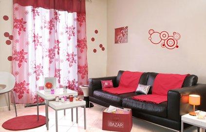 Girl Room Design Ideas: Decoration Salon Simple