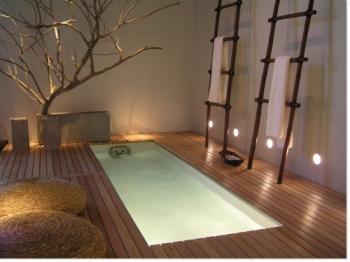 modèle décoration salon zen bambou