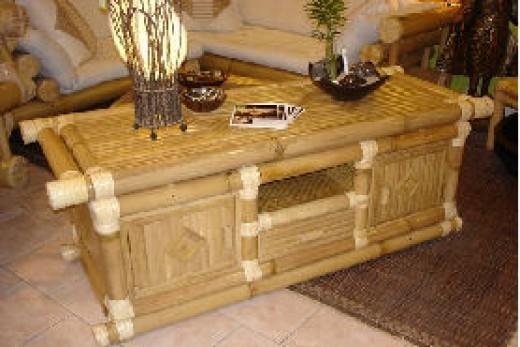 d233coration salon zen bambou