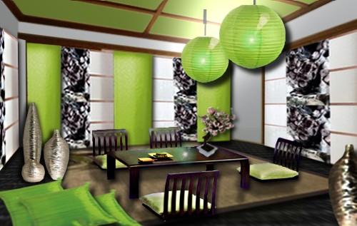 deco salon zen vert. Black Bedroom Furniture Sets. Home Design Ideas