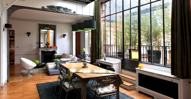 D coration style loft americain for Maison style americain interieur