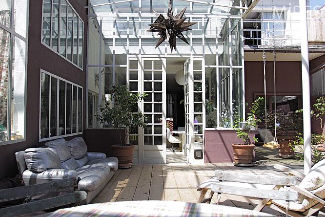 D coration terrasse loft for Loft terrasse