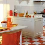 decoration cuisine couleur orange