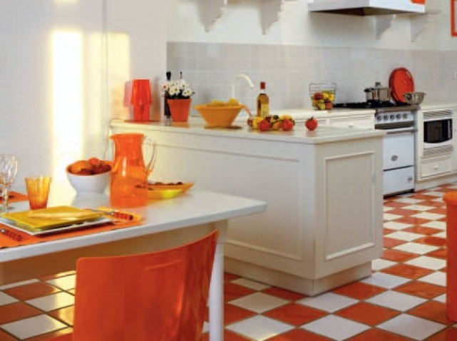 Stunning Decoration Cuisine Orange Et Vert Gallery - Design Trends ...