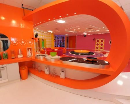 Decoration cuisine couleur orange - Cuisine en orange ...