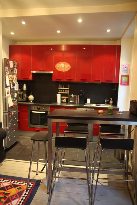 Decoration cuisine en rouge for Deco rouge cuisine
