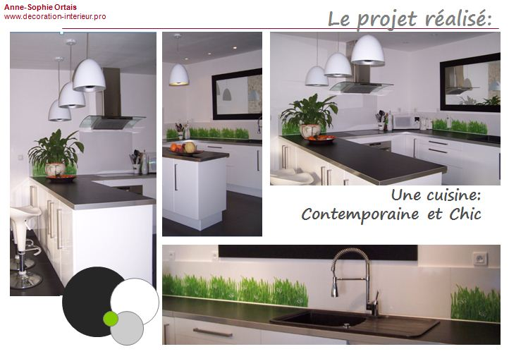 Decoration cuisine grise et blanche for Decoration cuisine grise