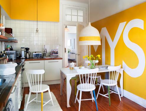 Decoration cuisine jaune for Decoration jaune