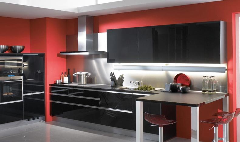 decoration cuisine noir et rouge avec des id es int ressantes pour la conception. Black Bedroom Furniture Sets. Home Design Ideas