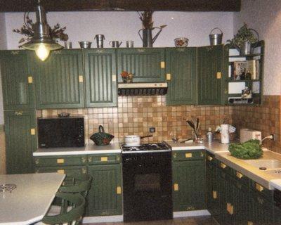 Decoration cuisine vert olive for Cuisine vert olive