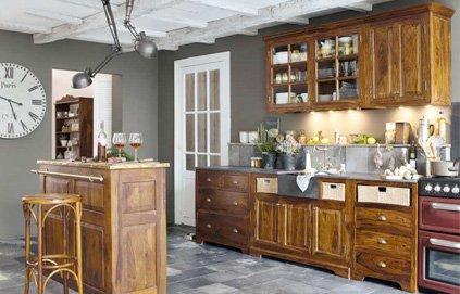 Decoration d 39 une cuisine rustique for Idee deco cuisine rustique