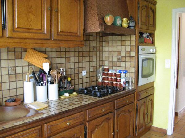 exemple decoration d'une cuisine rustique - Comment Renover Une Cuisine En Bois