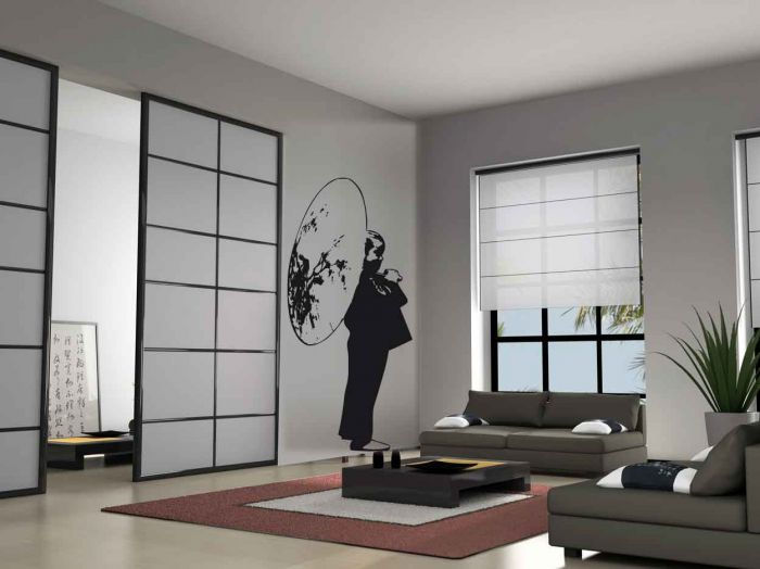 decoration salon japonaise. Black Bedroom Furniture Sets. Home Design Ideas
