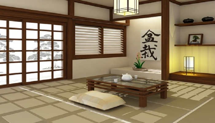 Decoration salon japonaise for Meuble deco japonaise