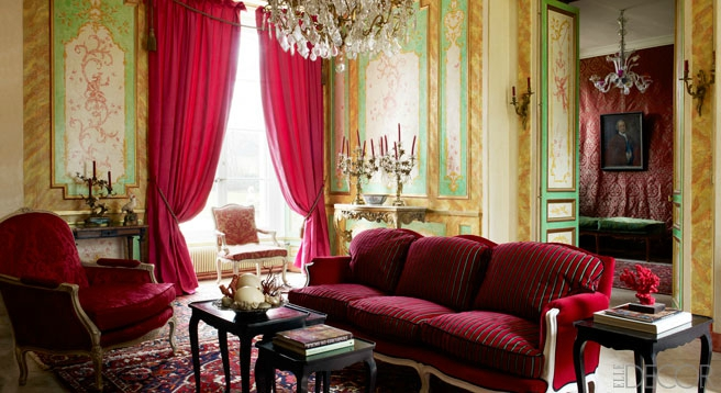 d coration salon louis xv. Black Bedroom Furniture Sets. Home Design Ideas