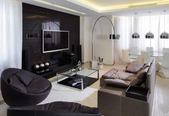 decoration salon style urbain. Black Bedroom Furniture Sets. Home Design Ideas