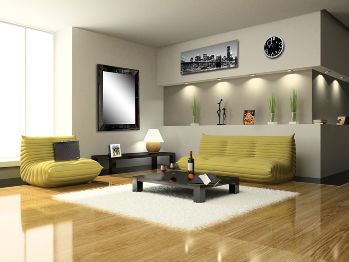 decoration salon style urbain. Black Bedroom Furniture Sets. Home Design Ideas