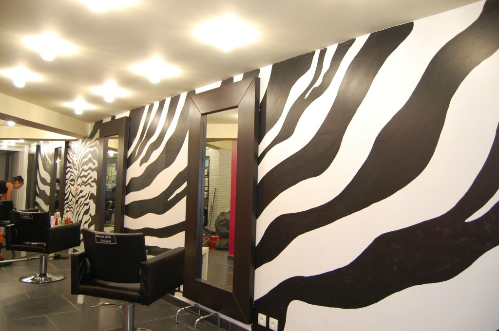 Decoration salon zebre for Deco murale zebre