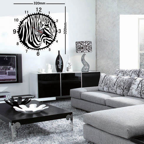 decoration salon zebre