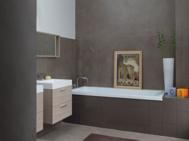 Peinture et d co salle de bain for Peinture acrylique salle de bain