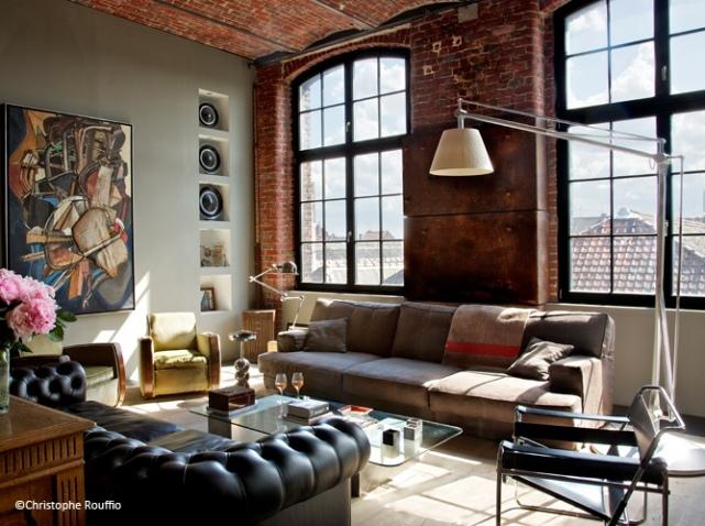 d coration bureau loft. Black Bedroom Furniture Sets. Home Design Ideas