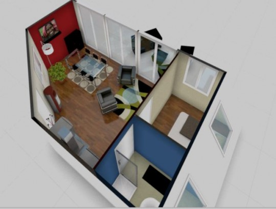 D co d 39 appartement en 3d for Sweet home 3d modele maison